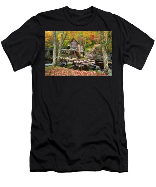 Mill At Babcock State Park Men's T-Shirt (Athletic Fit)