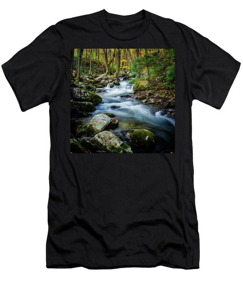 Mill Creek In Fall #3 Men's T-Shirt (Athletic Fit)