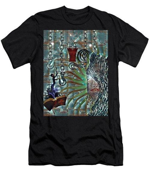 Mind Genocide Men's T-Shirt (Slim Fit) by Vennie Kocsis