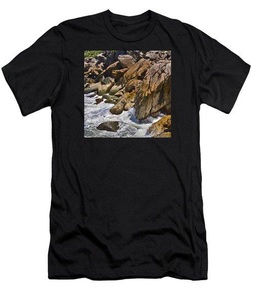 Brazilian Sea Cliffs - Guaruja - Sao Paulo Men's T-Shirt (Athletic Fit)