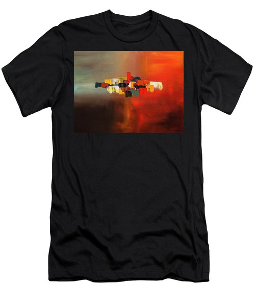 Men's T-Shirt (Slim Fit) featuring the painting Mindful - Abstract Art by Carmen Guedez