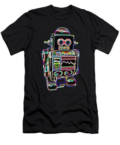 Mini D Robot Men's T-Shirt (Athletic Fit)