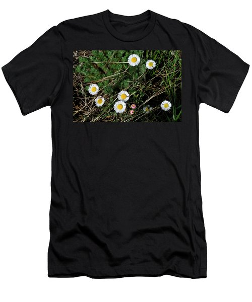 Men's T-Shirt (Athletic Fit) featuring the photograph Mini Daisies by Ron Cline