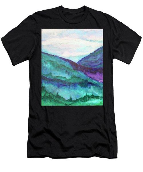 Mini Mountains Majesty Men's T-Shirt (Athletic Fit)