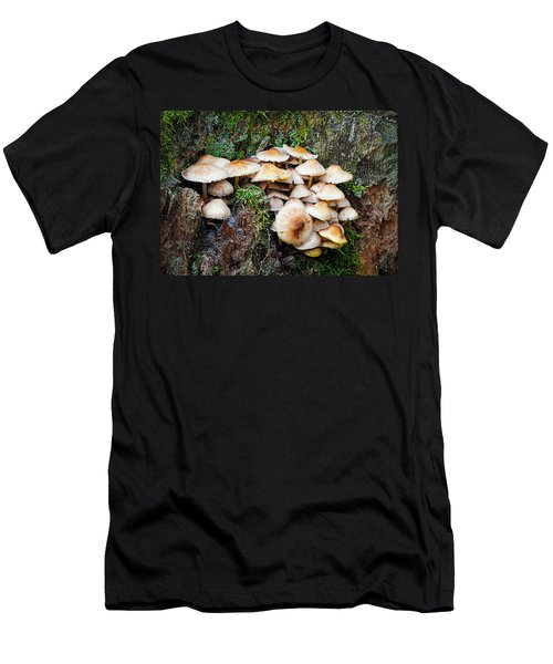 Mini Mushroom Landscape Men's T-Shirt (Athletic Fit)