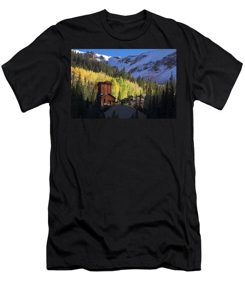 Men's T-Shirt (Slim Fit) featuring the photograph Mining Ruins by Steve Stuller