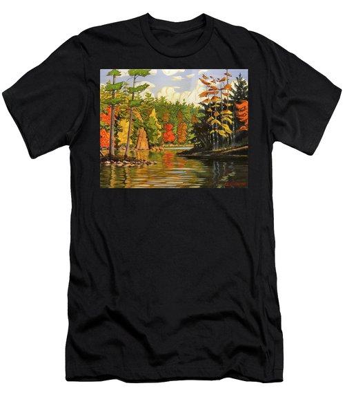 Mink Lake Narrows Men's T-Shirt (Athletic Fit)