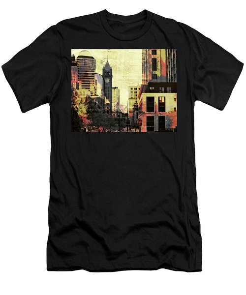 Minneapolis Clock Tower Men's T-Shirt (Athletic Fit)