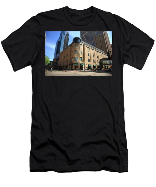 Men's T-Shirt (Slim Fit) featuring the photograph Minneapolis Downtown by Frank Romeo