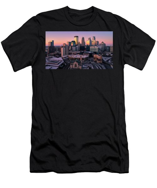 Minneapolis Skyline At Sunset Men's T-Shirt (Athletic Fit)