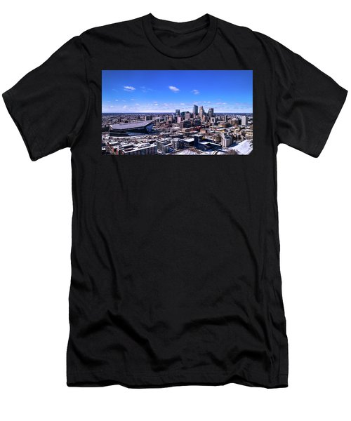 Minneapolis Skyline On A Sunny Day Men's T-Shirt (Athletic Fit)