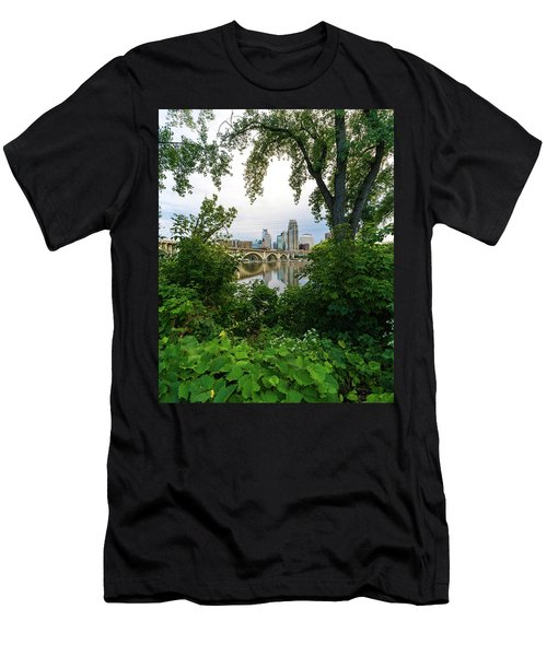 Minneapolis Through The Trees Men's T-Shirt (Athletic Fit)
