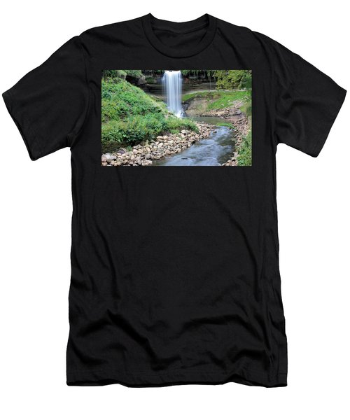 Minnehaha Falls Downstream Men's T-Shirt (Athletic Fit)