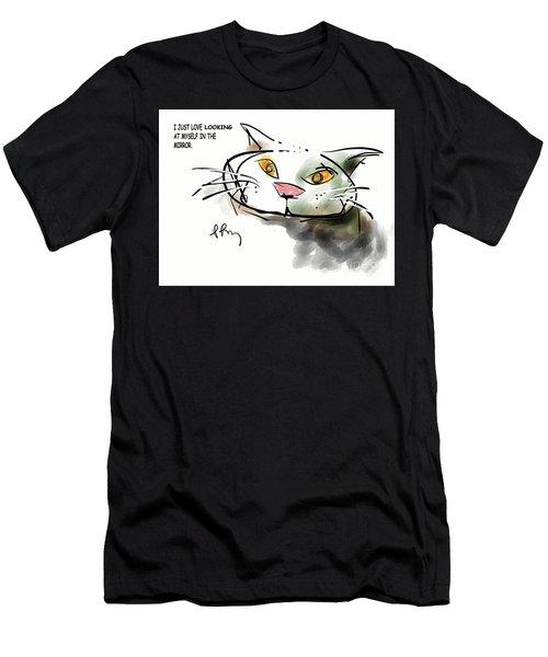 Mirror Cat Men's T-Shirt (Athletic Fit)