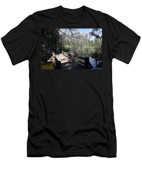 Mirror Lake At Yosemite National Park Men's T-Shirt (Athletic Fit)