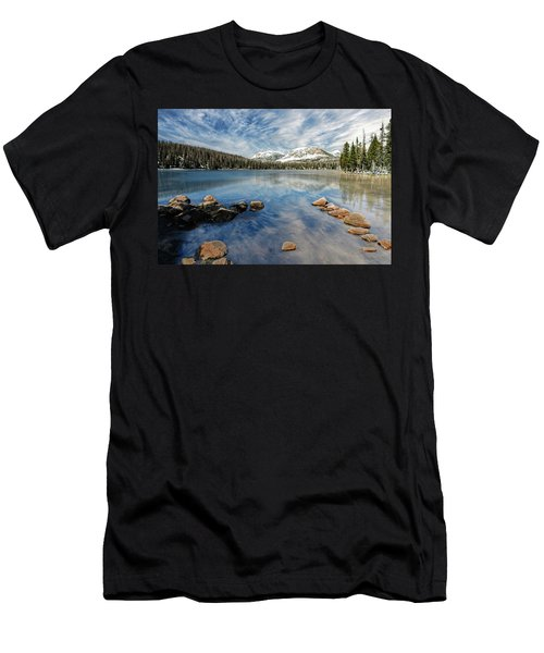 Men's T-Shirt (Athletic Fit) featuring the photograph Mirror Lake by Scott Read