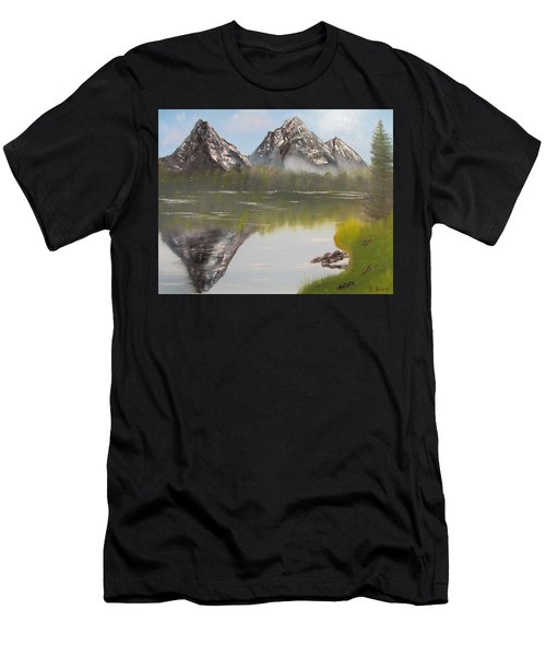 Mirror Mountain Men's T-Shirt (Athletic Fit)