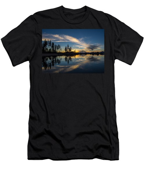 Mirror Sunset Men's T-Shirt (Athletic Fit)