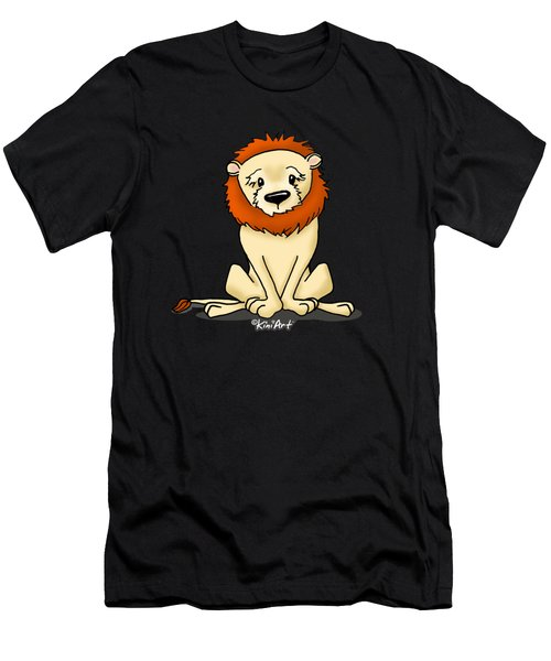 Lion Peaceful Reflection  Men's T-Shirt (Athletic Fit)