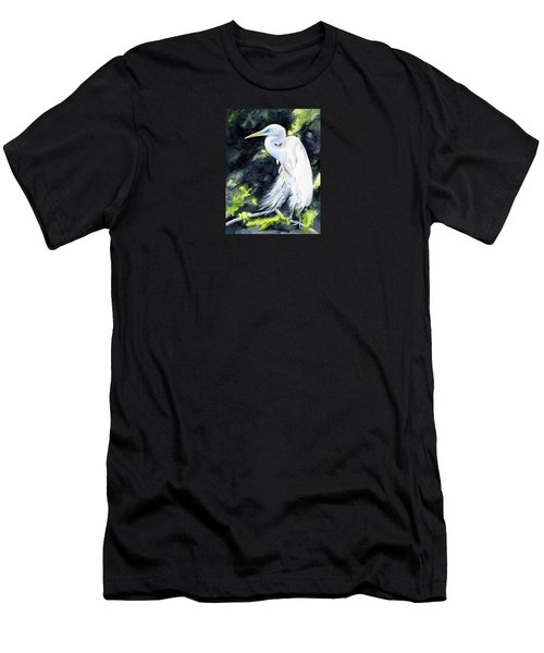 Miss April - Great Egret Men's T-Shirt (Athletic Fit)