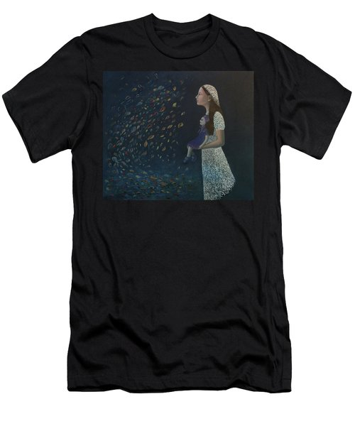 Miss Frost Watching The Autumn Dance Men's T-Shirt (Slim Fit) by Tone Aanderaa