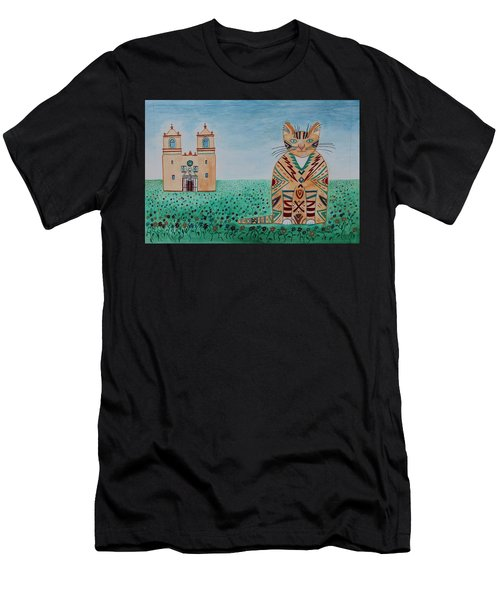 Mission Concepcion Cat Men's T-Shirt (Athletic Fit)
