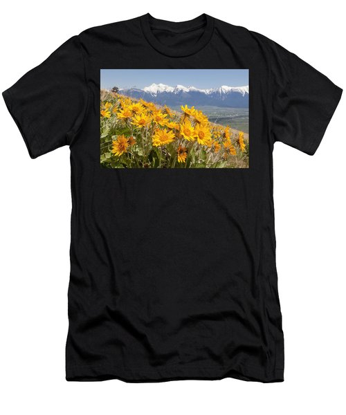 Mission Mountain Balsam Blooms Men's T-Shirt (Athletic Fit)