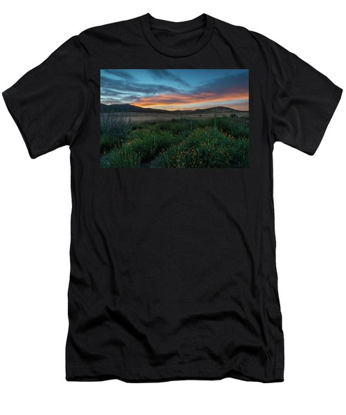 Mission Trails Poppy Sunset Men's T-Shirt (Athletic Fit)