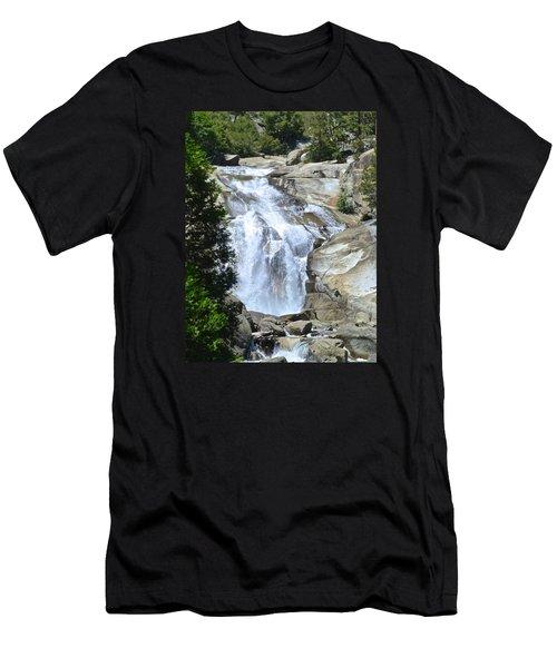 Mist Falls Men's T-Shirt (Slim Fit) by Amelia Racca