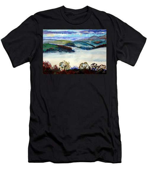 Mist In The Exe Valley In Exeter Devon Men's T-Shirt (Athletic Fit)