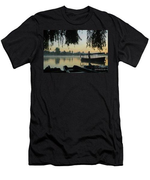 Mist Lake Silhouette Men's T-Shirt (Athletic Fit)