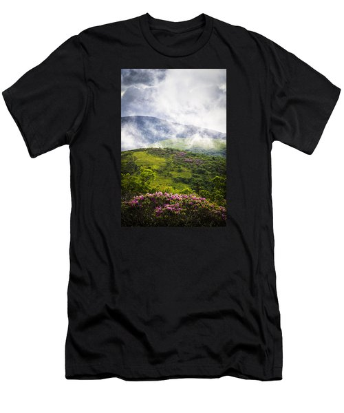 Rhododendrons - Roan Mountain Men's T-Shirt (Athletic Fit)