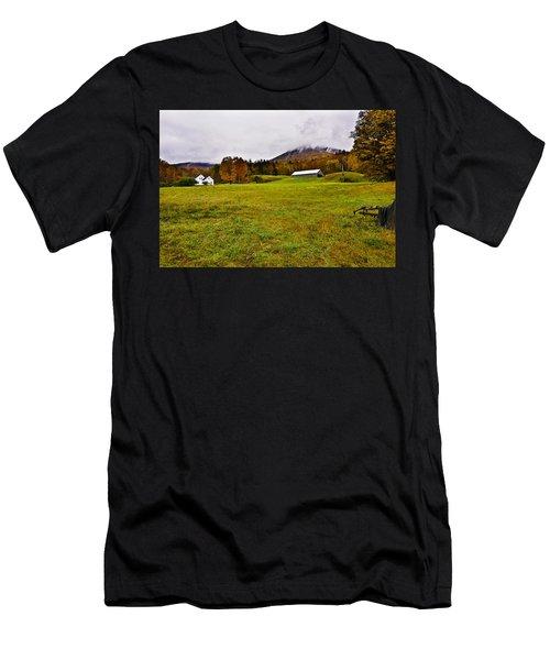 Misty Autumn At The Farm Men's T-Shirt (Athletic Fit)