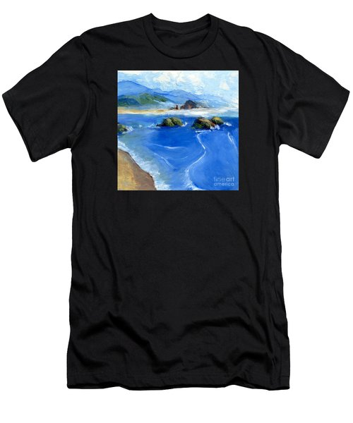 Misty Bodega Bay Men's T-Shirt (Athletic Fit)