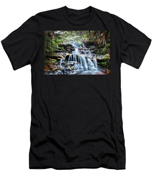 Misty Falls Men's T-Shirt (Athletic Fit)