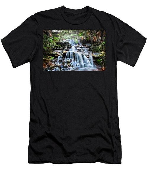 Men's T-Shirt (Athletic Fit) featuring the photograph Misty Falls by Az Jackson