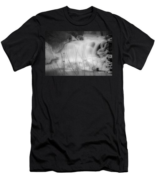 Misty Icy Waterfall Men's T-Shirt (Athletic Fit)
