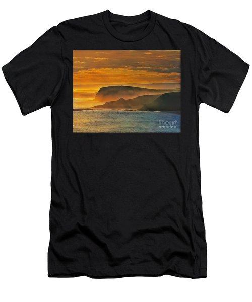 Misty Island Sunset Men's T-Shirt (Slim Fit) by Blair Stuart