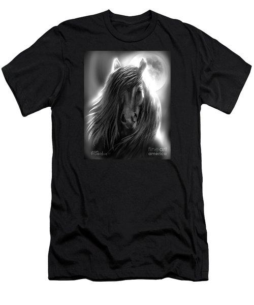 Misty Moonlight Men's T-Shirt (Slim Fit) by Patricia L Davidson