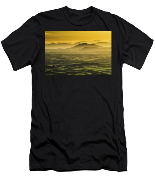 Misty Morning At Palouse. Men's T-Shirt (Athletic Fit)