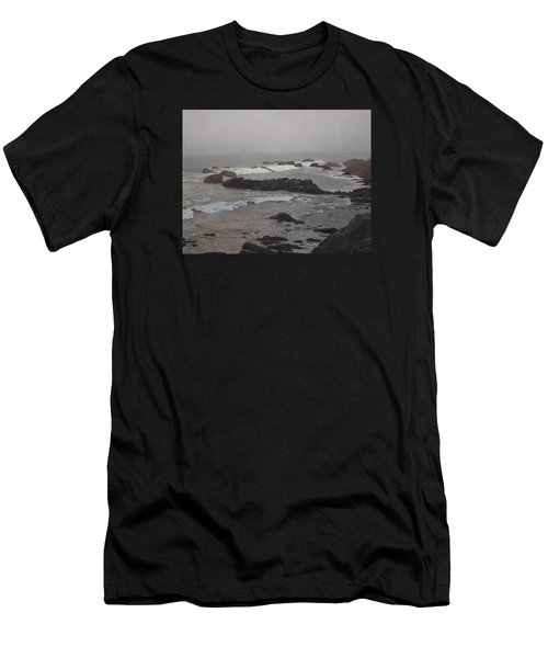 Misty Morning At Ragged Point, California Men's T-Shirt (Athletic Fit)