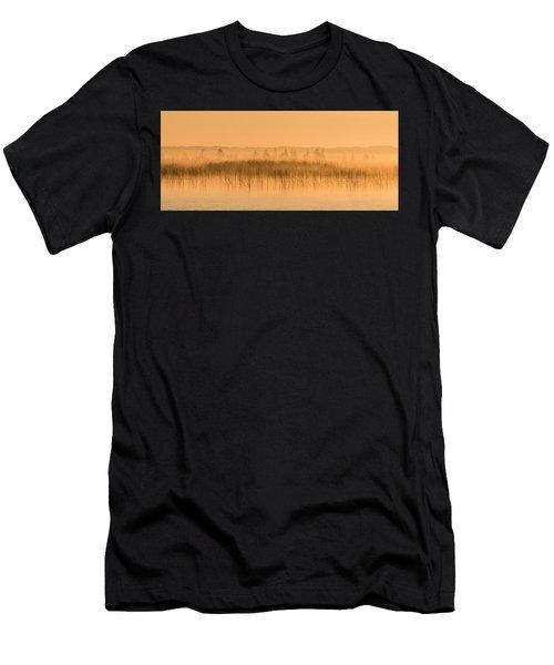 Misty Morning Floating Bog Island On Boy Lake Men's T-Shirt (Athletic Fit)