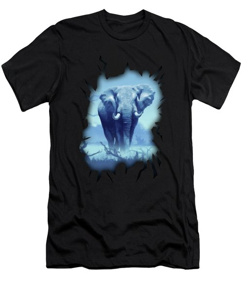 Misty Blue Morning In The Tsavo Men's T-Shirt (Athletic Fit)