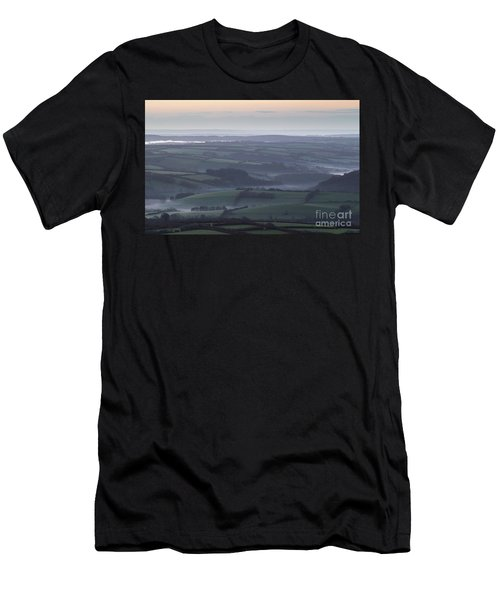 Misty Morning On Exmoor  Men's T-Shirt (Athletic Fit)