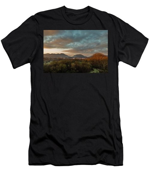 Misty Morning Over The San Diego River Men's T-Shirt (Athletic Fit)