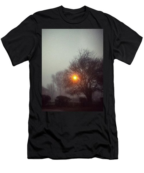 Men's T-Shirt (Slim Fit) featuring the photograph Misty Morning by Persephone Artworks