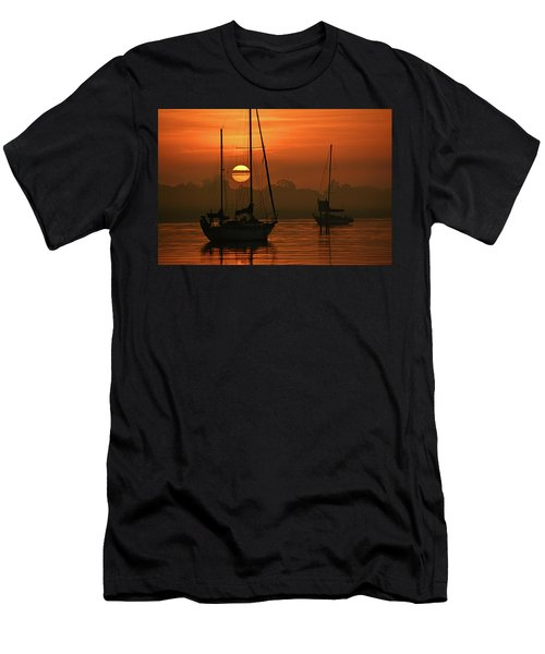 Misty Morning Sunrise Men's T-Shirt (Athletic Fit)