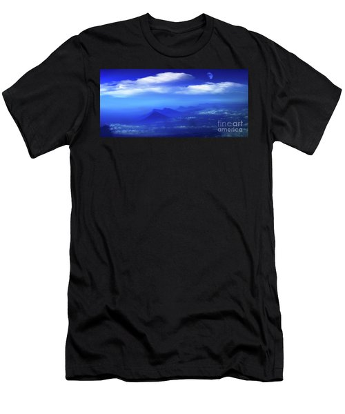 Misty Mountains Of San Salvador Panorama Men's T-Shirt (Athletic Fit)