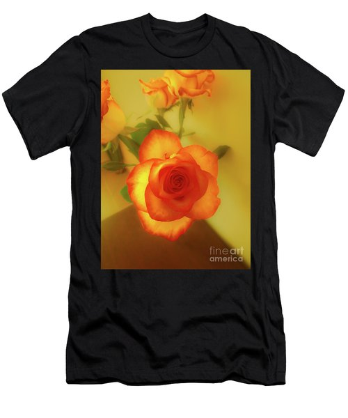 Misty Orange Rose Men's T-Shirt (Athletic Fit)