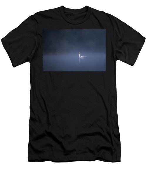 Men's T-Shirt (Athletic Fit) featuring the photograph Misty River Swan by Davor Zerjav